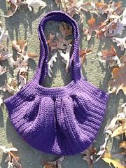Samanta's fat bag basking in the sun (crochetbug13) Tags: crochet cascade220 fatbag samantasfatbag