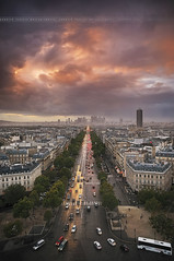 [Explore] POV from the Arch of Triumph until the Arch of La Défense ~ Paris // France ~ (Yannick Lefevre) Tags: roof paris france photoshop lights evening nikon raw nef cityscape pov wideangle ps arcdetriomphe iledefrance gettyimages ladéfense d300 concordelafayette sigma1020 portemaillot avenuedelagrandearmée larchedeladéfense nikoncapturenx capturenx2 ©yannicklefevre||photography