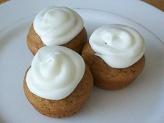 Pumpkin Spice Mini Cupcakes w/ Cream Cheese Icing