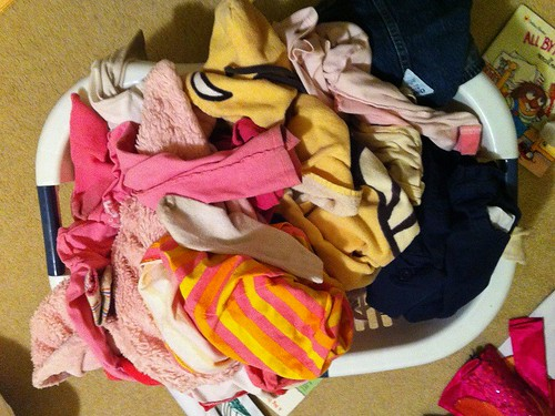 Hannah's laundry that never gets folded and put away