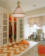 tory burch vogue larger 3 (mscott218) Tags: windows orange white closet design bedroom interiors interior vanity shades storage chandelier mirrored chevron interiordesign pendant tablescape