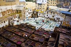 Panoramica sulle concerie di Fs (&li) Tags: travel holiday market religion traveller morocco fez marocco medina mercato viaggio vacanza fes fs religione corano viaggiare scuolacoranica