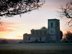 Another Day Beckons (anologital) Tags: uk greatbritain morning autumn light england colour tree church saint sunrise landscape oak mary northamptonshire olympus stmary zuiko northants 1122 uplands fawsley zd esystem e410