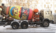 SPB Kamaz 53229 Cement truck (robert_m_brown_jr) Tags: winter snow mystery truck stpetersburg russia cement enigma churchill scenes riddle matryoshka winterscenes kamaz stackingdoll matryoshkadoll kamaz53229