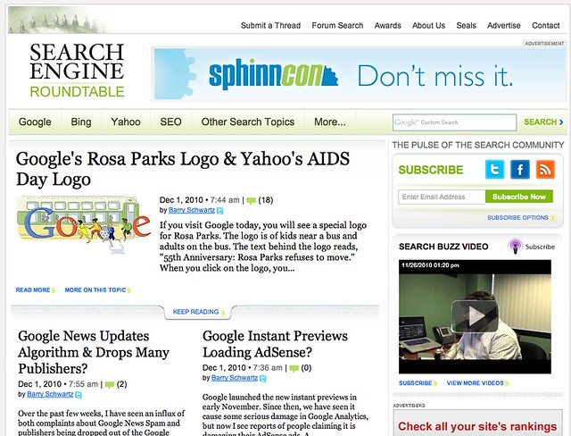 New Search Engine Roundtable Design