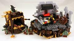 Anvil (Bart De Dobbelaer) Tags: castle lego fantasy vignette anvil smithy minion witchsquest