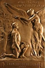 French Carnegie Hero Medal Reverse