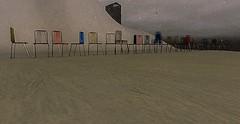 Random Chairs (jakobfrost) Tags: beach industrial chair random sand snow bleak sky winter north northern