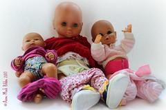ALLE DRIE EEN LUIER OP MAAT || ALL THREE BABY DOLLS  A CUSTOM-MADE DIAPER (Anne-Miek Bibbe) Tags: canoneosm annemiekbibbe bibbe nederland 2017 luier diaper babypop babydolldiaper sewing naaien doll toy speelgoed babypoppenluier dolldiaper poppenluier clothdolldiaper