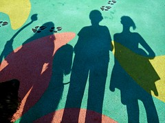 Playground Pals (Bennilover) Tags: shadows silhouettes park playground benni dog labradoodle granddaughter niece