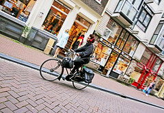 Amsterdam (kirstiecat (on vacation...)) Tags: amsterdam netherlands dutch shops shopping bike bicycle biking fashion headphones street canon colors saturation adventure