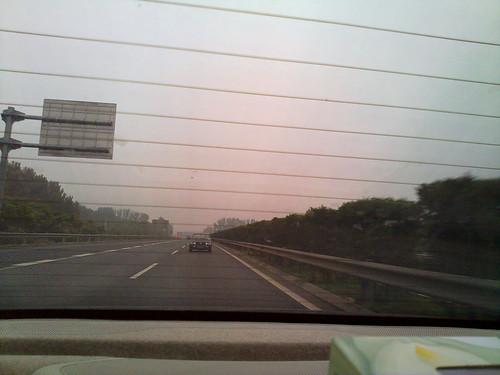 Moottoritie on kuuma