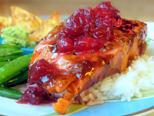 Hoisin-Glazed Salmon with Plum-Ginger Relish