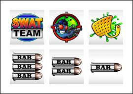 free S.W.A.T. Team slot game symbols