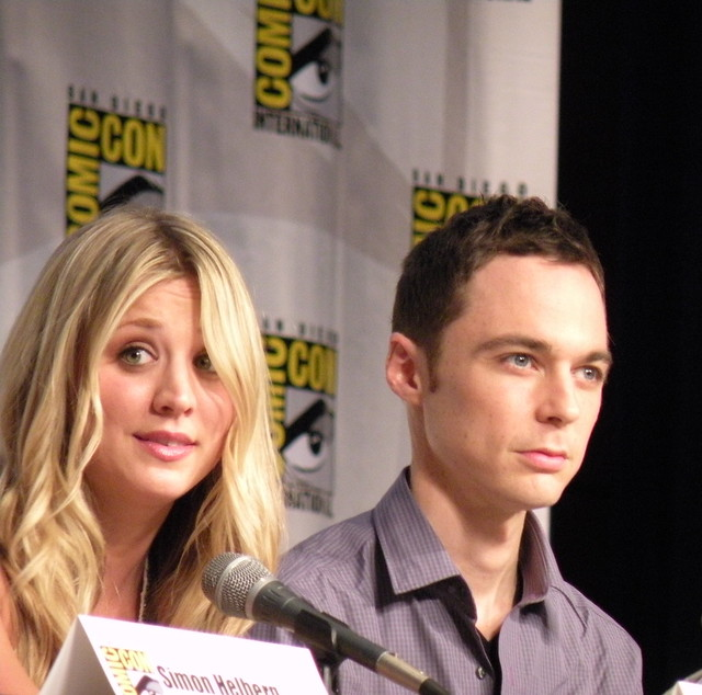 Comic-Con 2010 Kaley Cuoco Jim Parsons