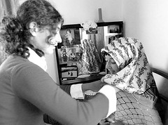 the final touch (© noborders) Tags: blackandwhite bw turkey noiretblanc türkiye innocence villagelife kds eastturkey monochromia coranicschool lumixlx3 doğutürkiye 06072010 avillagenearardahan notfarfromgeorgia kurdslumixlx3