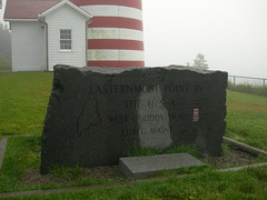 Easternmost Point in the USA Sign (jimmywayne) Tags: statepark lighthouse maine lubec westquoddyhead washingtoncounty easternmost nrhp