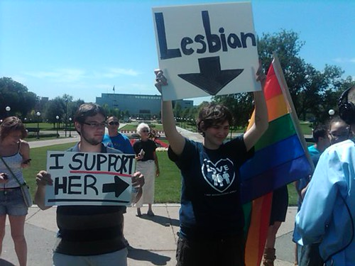 Equality supporters in St. Paul, MN
