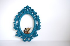 sea maiden (amye123) Tags: flowers blue home wall vintage colorful bright handmade teal frame ornate baroque decor homedecor oval pictureframe reclaimed upcycle sfgirbybay amye123