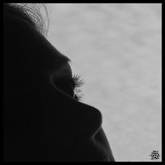 301/365    Dreaming .... {EXPLORED} (Aqua Libra) Tags: sky bw white black max eye me myself square daily explore eyelash 365 500x500 365days sillouet explored i