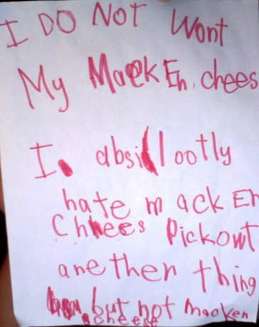 I DO NOT Wont My MackEn chees I absilootly hate macken chees pick owt anether thing but not macken cheese