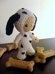 Guys in Disguise (Barkley) (Ewenique4U) Tags: white black cute stuffed doll child crochet amigurumi