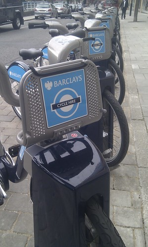 Boris Bikes in Park Street
