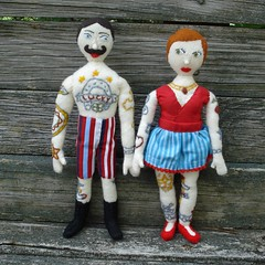 Tattooed doll couple