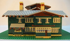 Gamble House (ShowBrick) Tags: lego micro gamblehouse