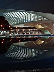 Valencia at night (CameliaTWU) Tags: windows valencia architecture night pond spain operahouse modernarchitecture waterreflection