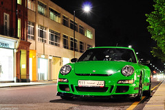 Porsche 997 GT3RS (Laurens Grim) Tags: green night speed photography nikon grim engine arab porsche rims laurens circuit rs supercar spoiler 2010 horsepower londen gt3 18105 d90 gt3rs