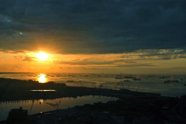 Dawn - Marina Bay Sands - Sea View