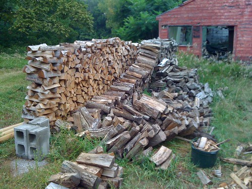 wood stack fell over :(
