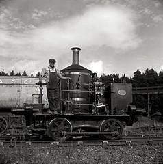 Coffee Pot No.1 at Beamish Museum (Andy-artin) Tags: county bw 120 film analog mono durham engine loco steam beamish analogue dorking ilford fp4 coffeepot emulsion shunter 1871 shunting hasselblad500cm beamishmuseum headwrightson