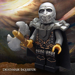 Deathmask Inquisitor (Morgan190) Tags: skull lego fantasy axe warrior minifig custom deathmask m19 minifigure inquisitor morgan19