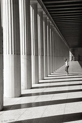 Lost Between Shadows (Ben Heine) Tags: travel light summer wallpaper blackandwhite music reflection art heritage history archaeology lines contrast photography lights freedom pier vanishingpoint big support energy shadows floor walk lumire quality magic pillar piano illumination athens muse sharp greece libert massive corinthian imaging column pulse copyrights past discovery tempo brightness solid doric colonne vibration ombres antiquity buttress stronglight clart pilaster classicalarchitecture antiquit pass luminosity athnes socle theartistery hugebuilding petitefemme luminosit creativecomposition benheine tinywoman museumoftheancientagora ionicorder cultureoccidentale samsungnx10 benheinecom ancientgreekstyle lostbetweenshadows