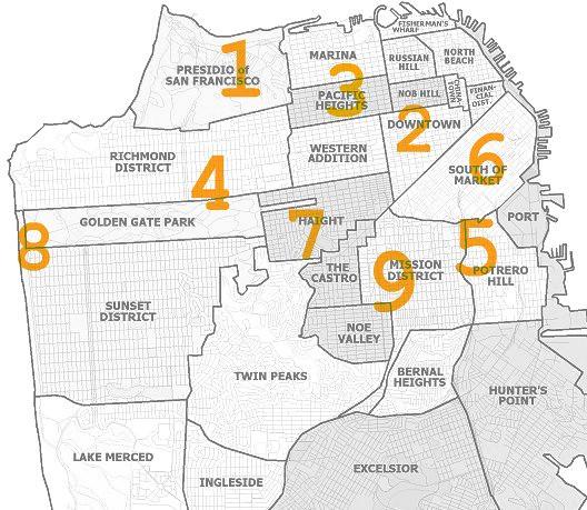 mapa de SF