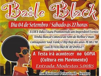 CUFA apresenta BAILE FLASH BLACK