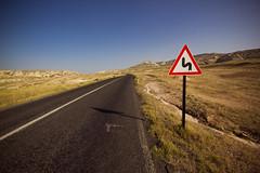 Street to the Valley (alfieianni.com) Tags: road street chimney signs abandoned sign rock turkey landscape türkiye central fairy valley cappadocia formations anatolia göreme curch turchia zelve