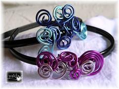 Diademas (Yaicla) Tags: en de y mano rosas azules alambre hecha tonos diademas yaicla