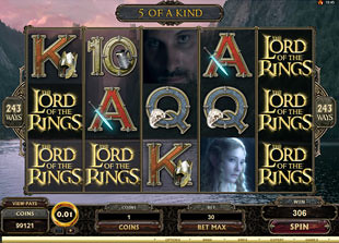 free The Lord of the Rings free spins prize