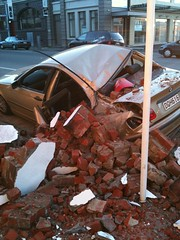Christchurch Earthquake - NEW BMW Crushed