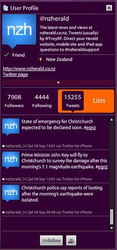 NZ Herald adopts the #eqnz hashtag