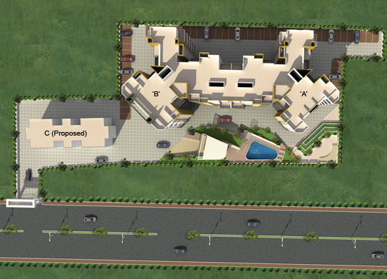 Felicia, 1 BHK & 2 BHK Flats on Pashan Baner Link Road Pune - Layout Plan