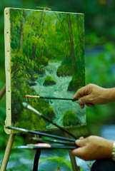 photo peinture peintre