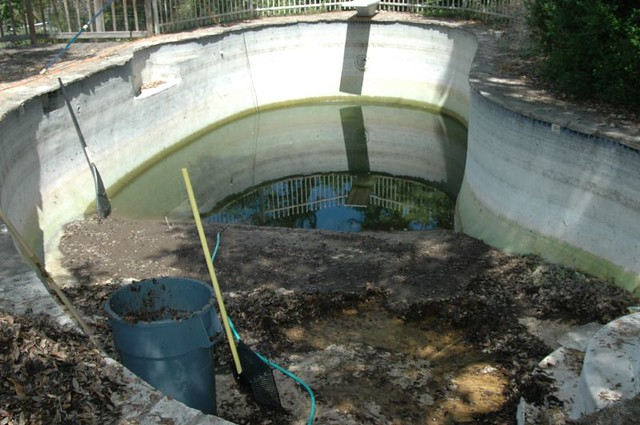 how to turn a pond into a swimming pool