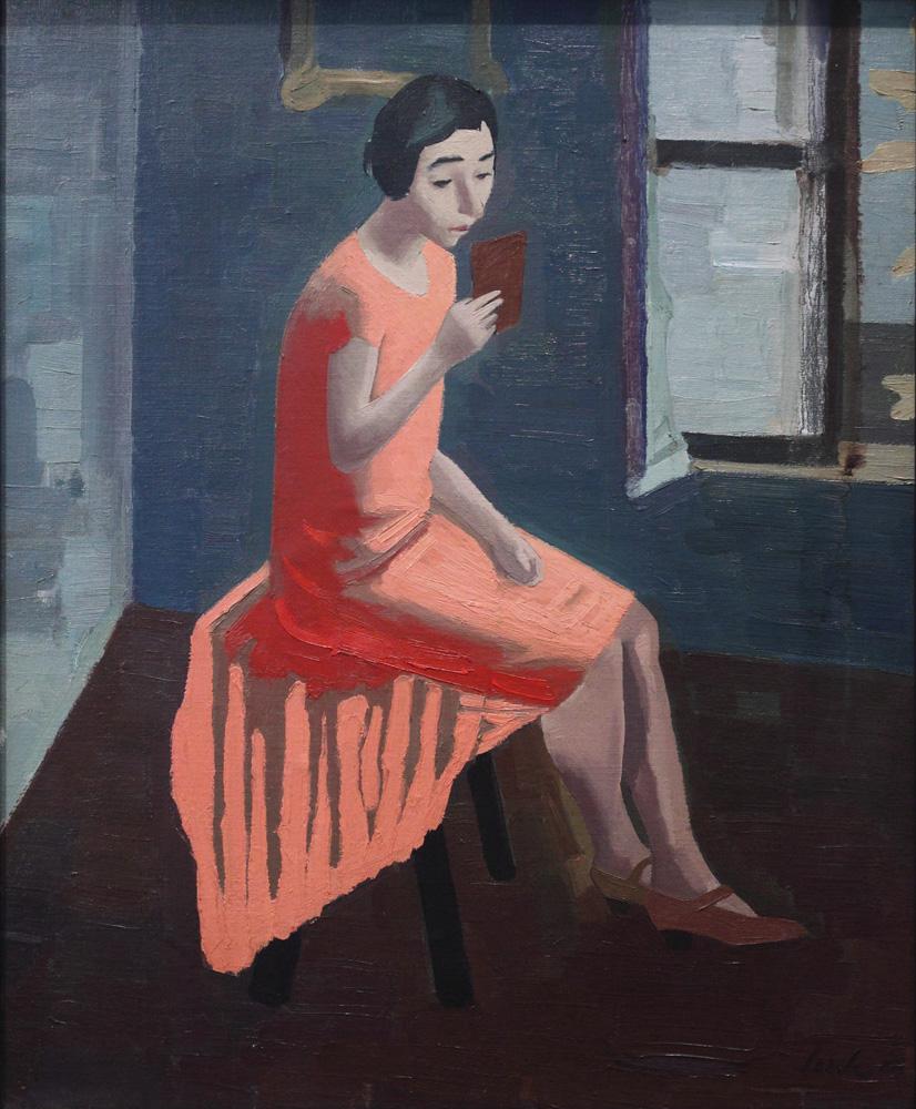 Franz Lerch, Sitzendes Mädchen [Seated Girl], 1928