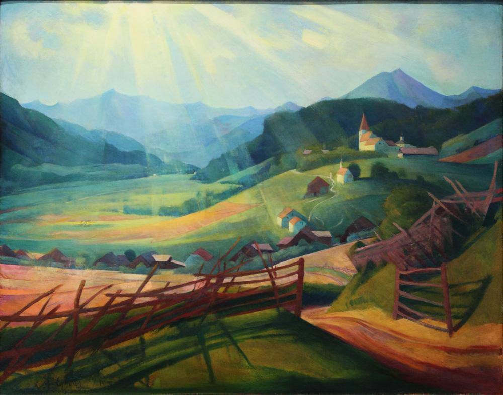 Lunwig Ferdinand Graf, Obersteirisches Hochtal [High Valley in Upper Styria], c 1924