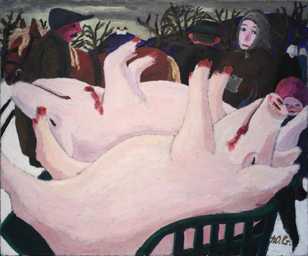 Werner Berg, Schweinemarkt [Pig Market], 1934