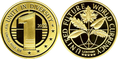 United Future World Currency Coin